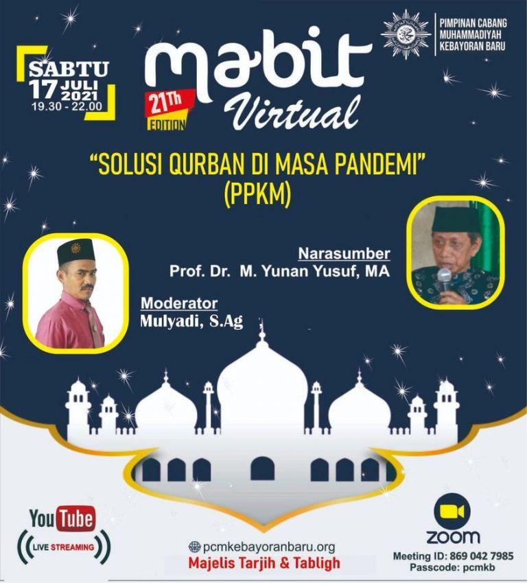 Mabit Virtual Menyambut Idul Adha